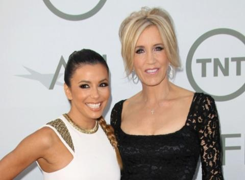 News video: Eva and Felicity Have a 'Desperate Housewives' Reunion